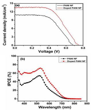 PANI as counter electrodes for DSSCs