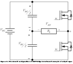 Подпись: Figure 6. The circuit configuration of half-bridge inverterand example of output signal